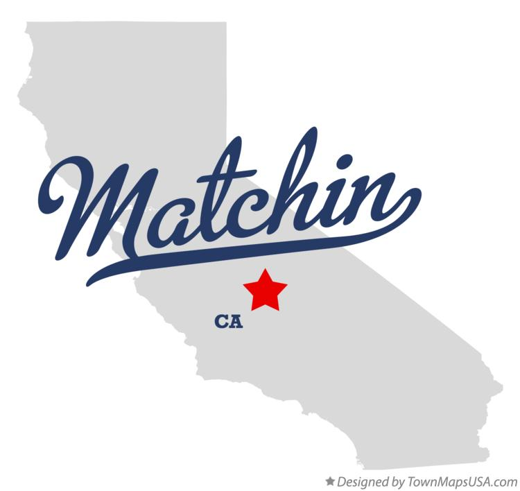Map of Matchin California CA