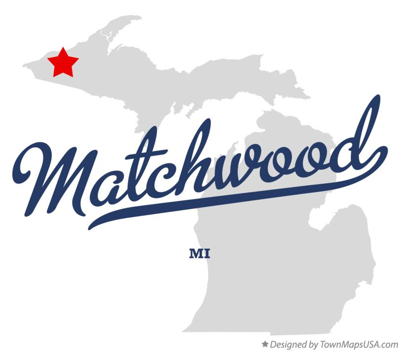 Map of Matchwood Michigan MI