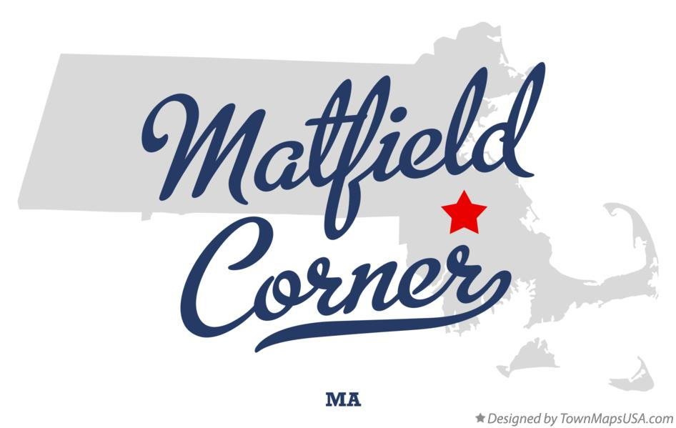 Map of Matfield Corner Massachusetts MA