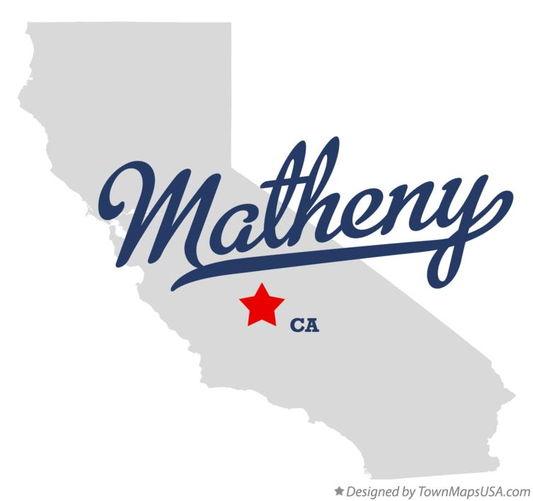 Map of Matheny California CA
