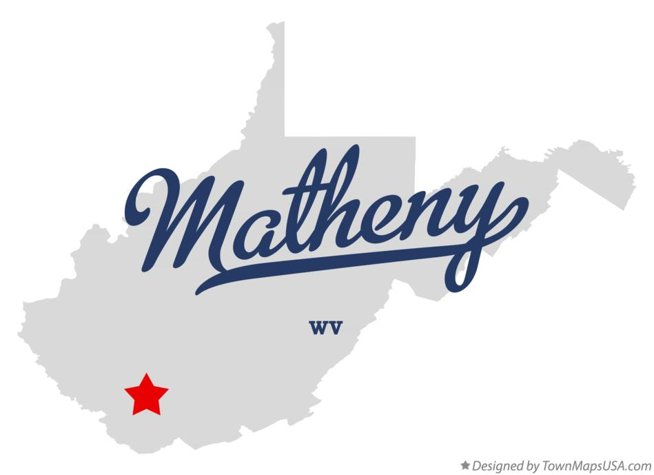 Map of Matheny West Virginia WV