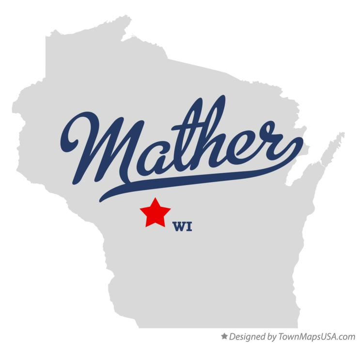 Map of Mather Wisconsin WI