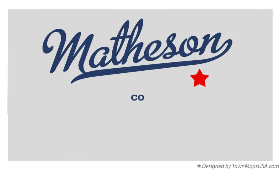 Map of Matheson Colorado CO