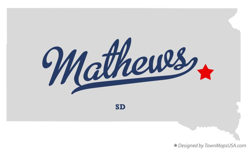 Map of Mathews South Dakota SD