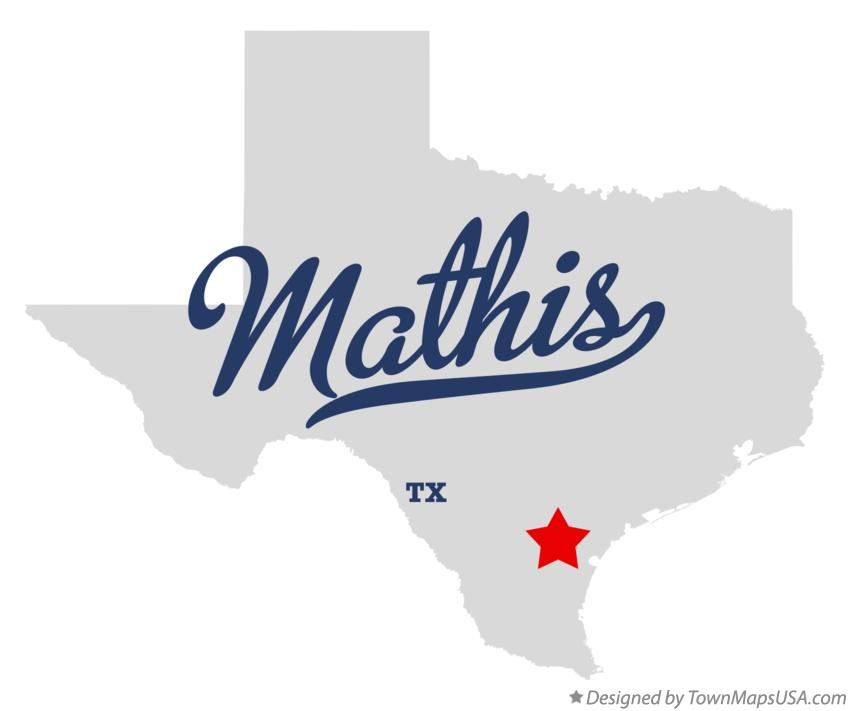 Map of Mathis Texas TX
