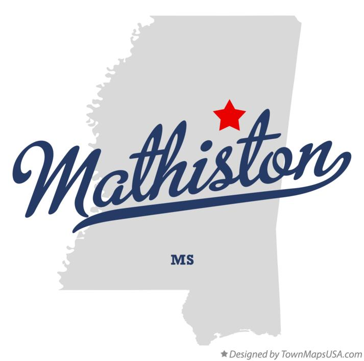 Map of Mathiston Mississippi MS