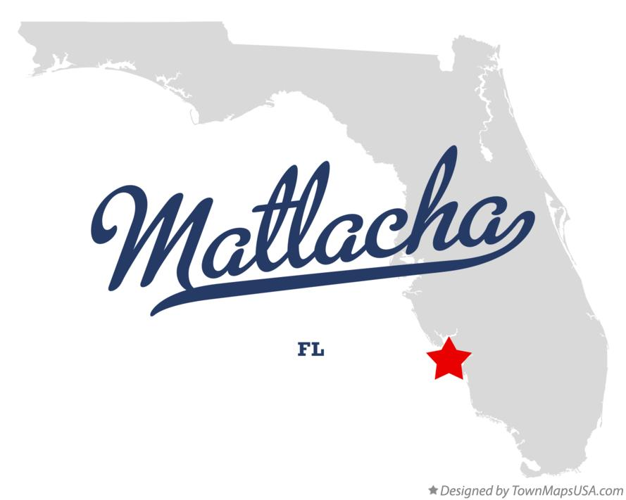 Map of Matlacha Florida FL
