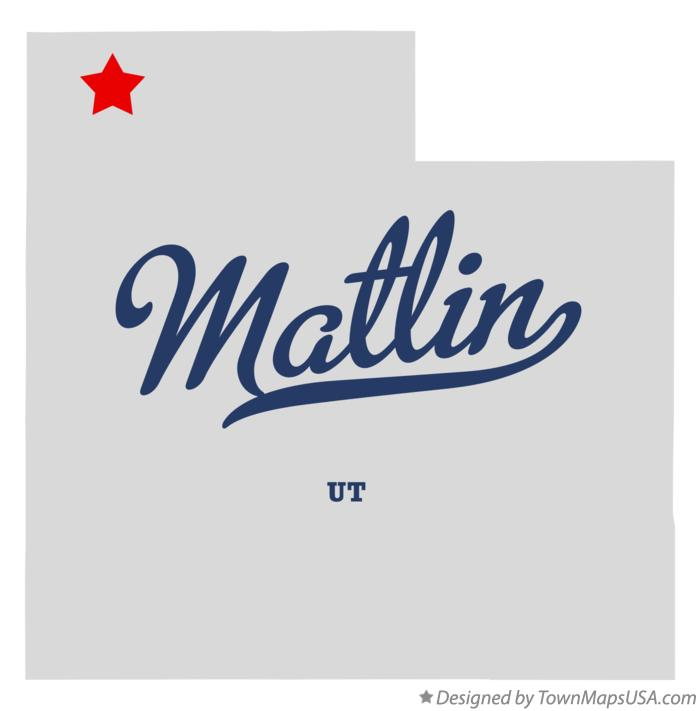 Map of Matlin Utah UT