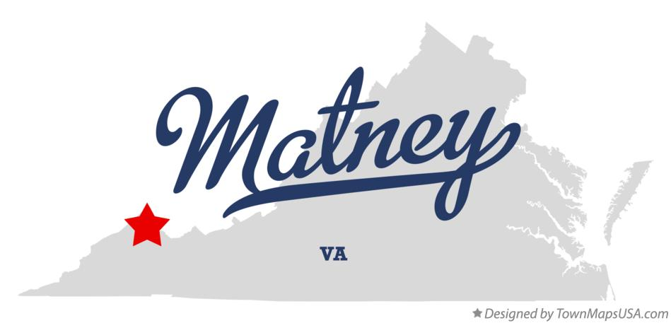 Map of Matney Virginia VA