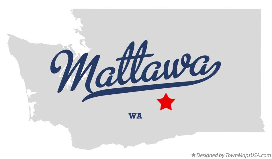 Map of Mattawa Washington WA