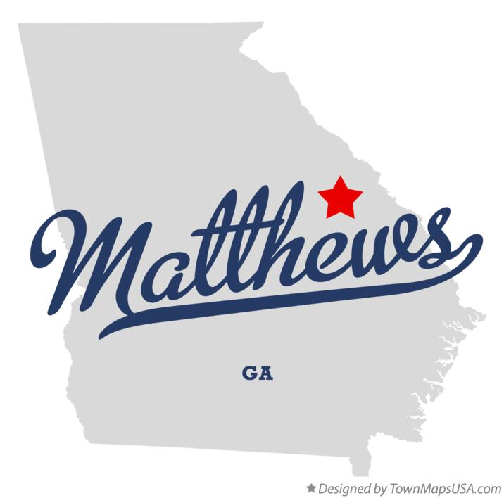 Map of Matthews Georgia GA