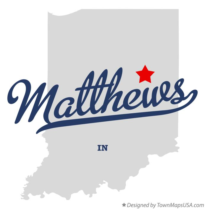 Map of Matthews Indiana IN