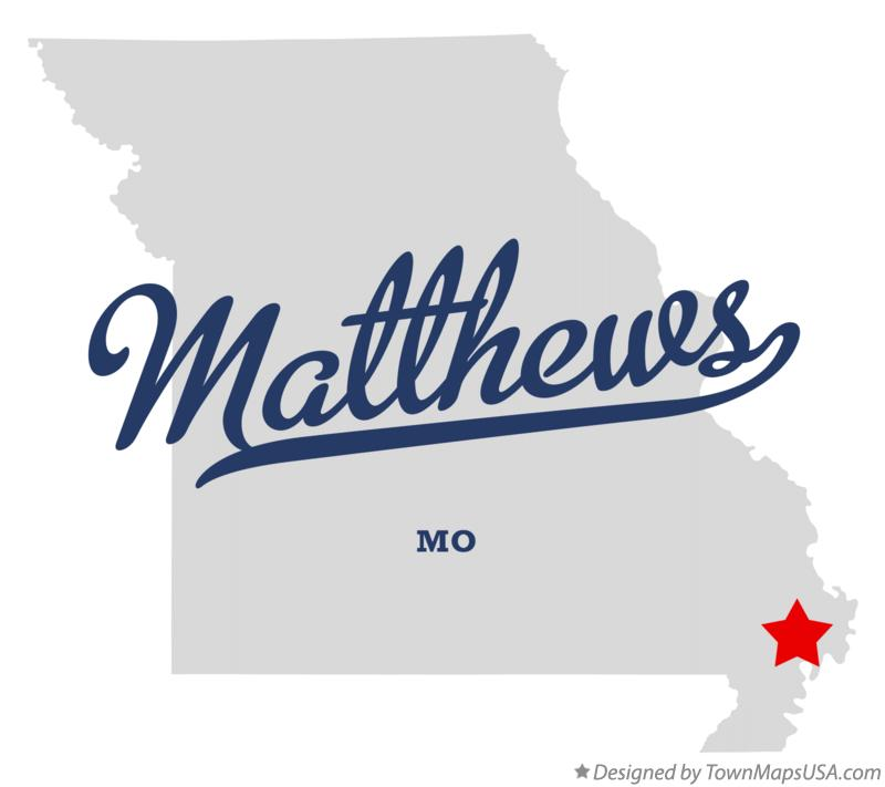 Map of Matthews Missouri MO