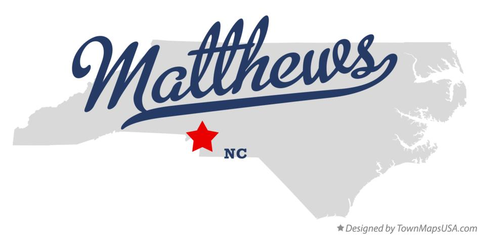 Map of Matthews North Carolina NC