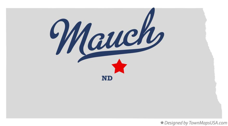 Map of Mauch North Dakota ND