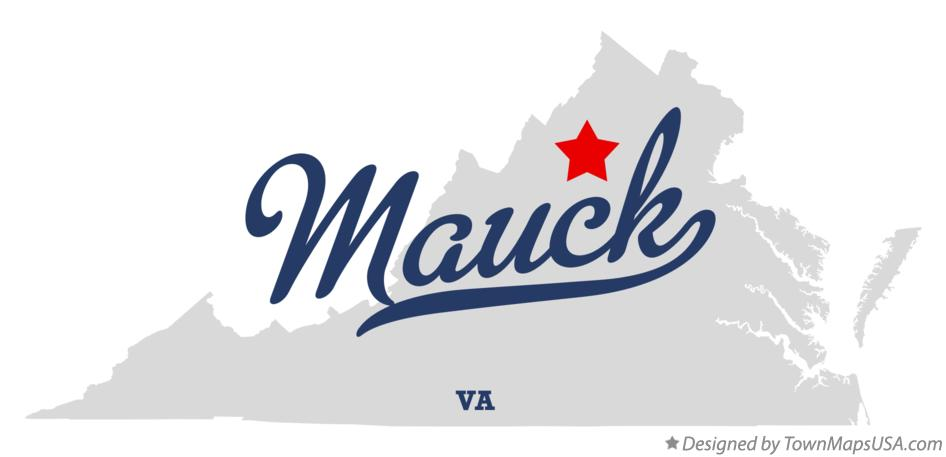Map of Mauck Virginia VA
