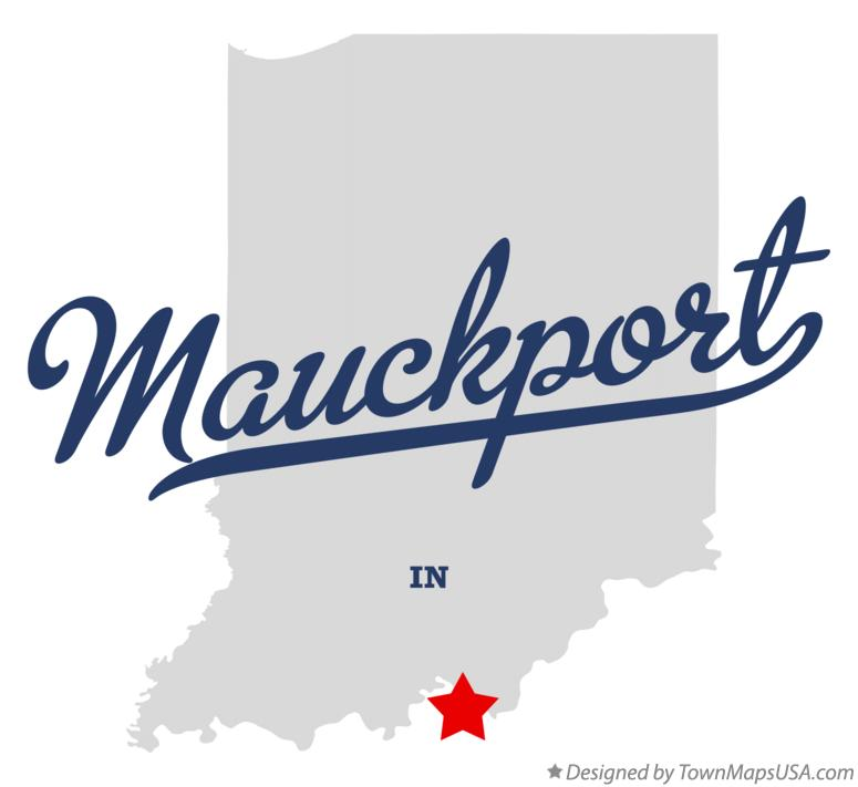 Map of Mauckport Indiana IN