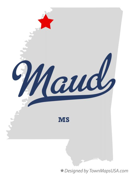 Map of Maud Mississippi MS
