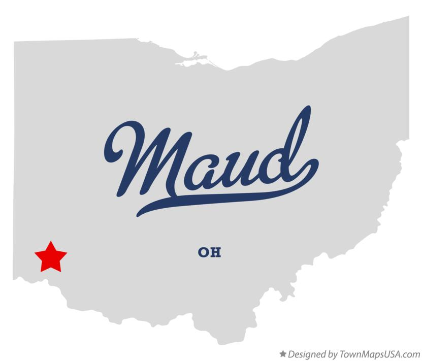 Map of Maud Ohio OH