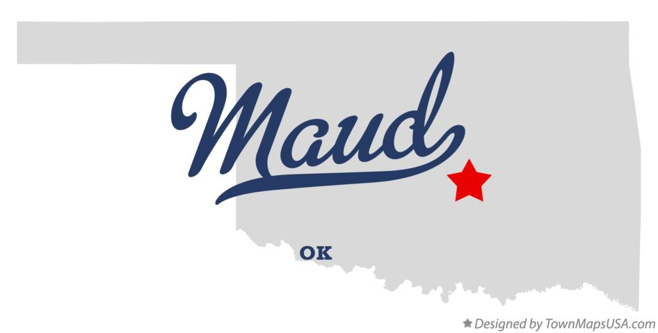 Map of Maud Oklahoma OK