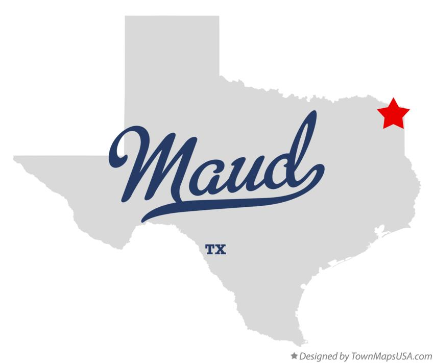 Map of Maud Texas TX
