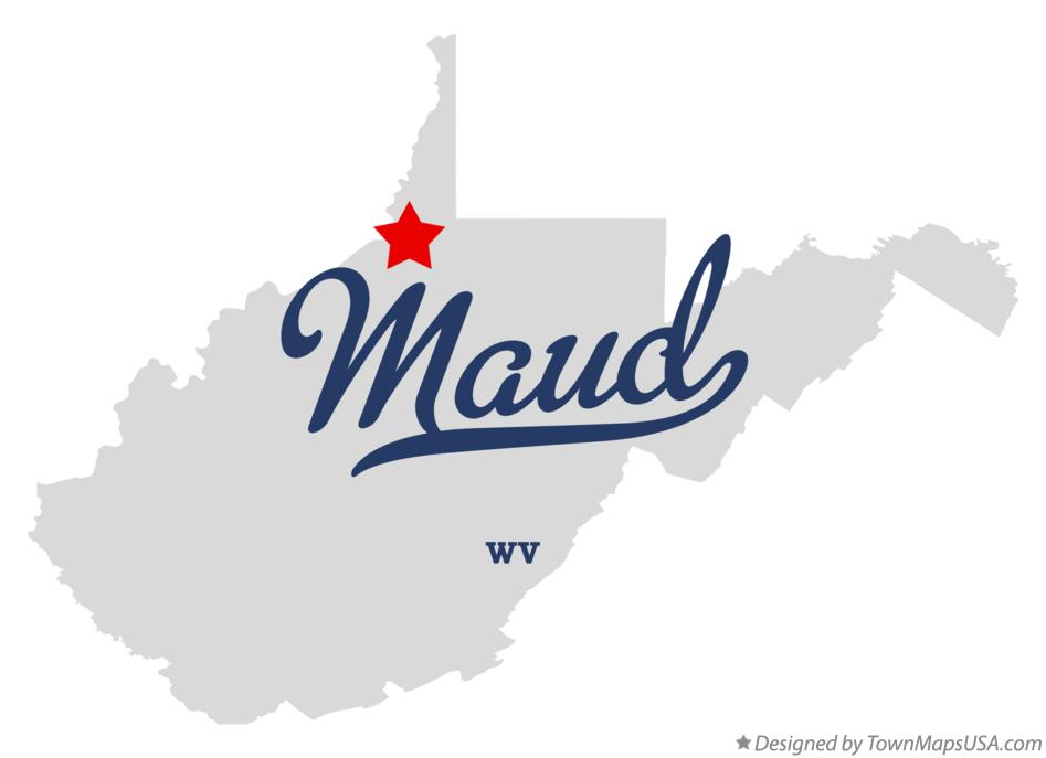 Map of Maud West Virginia WV