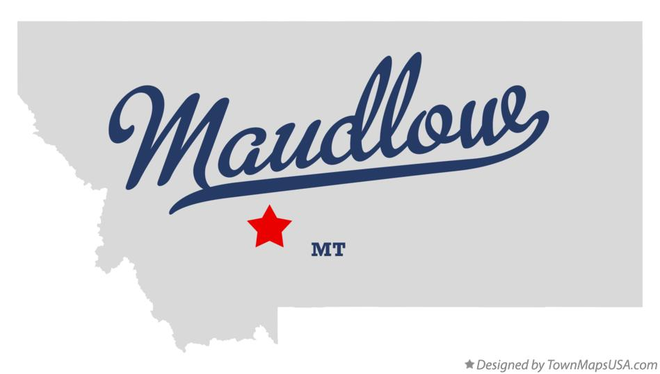 Map of Maudlow Montana MT