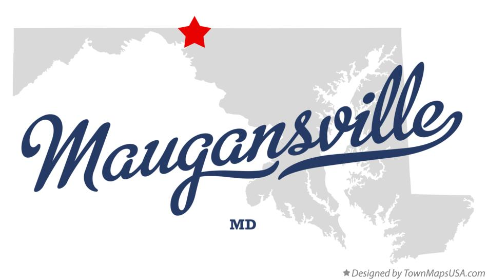 Map of Maugansville Maryland MD