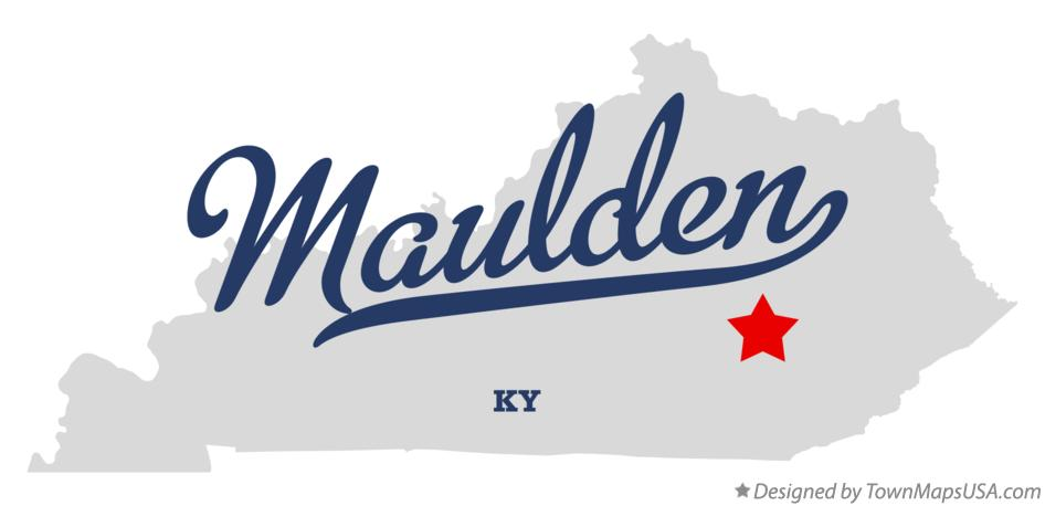 Map of Maulden Kentucky KY