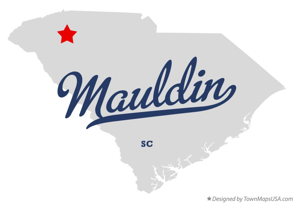 Map of Mauldin South Carolina SC