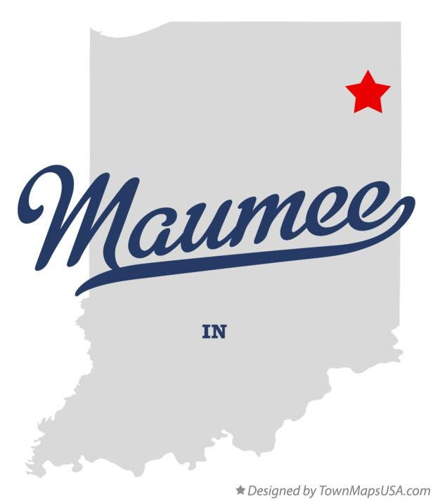 Map of Maumee Indiana IN