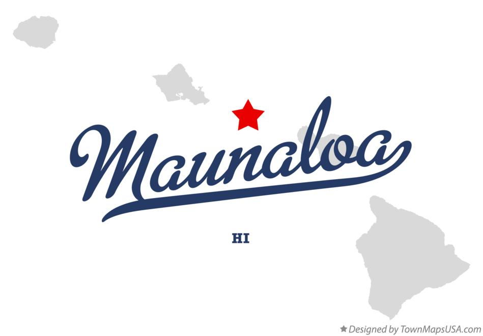 Map of Maunaloa Hawaii HI