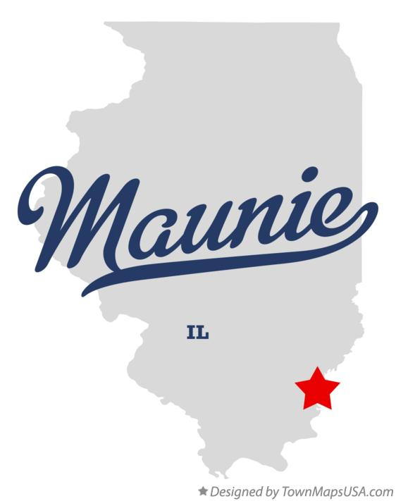 Map of Maunie Illinois IL