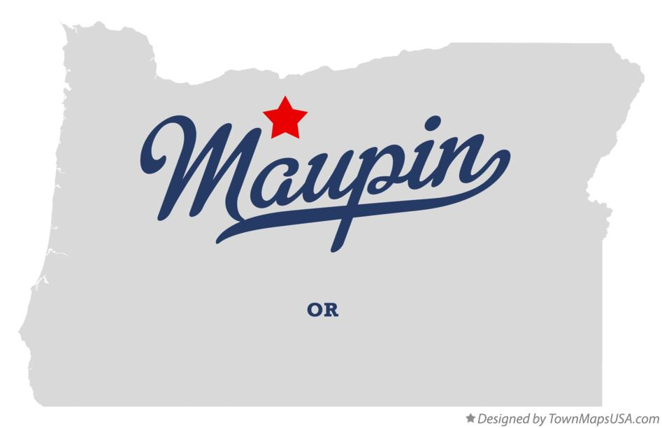 Map of Maupin Oregon OR