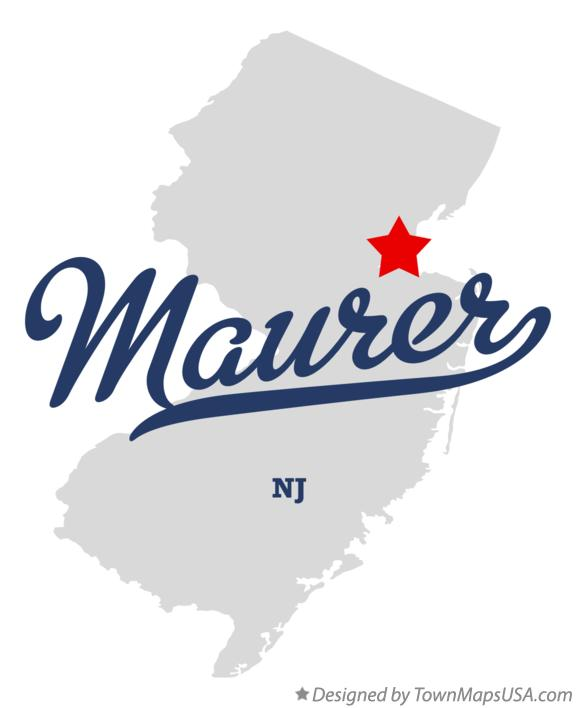 Map of Maurer New Jersey NJ