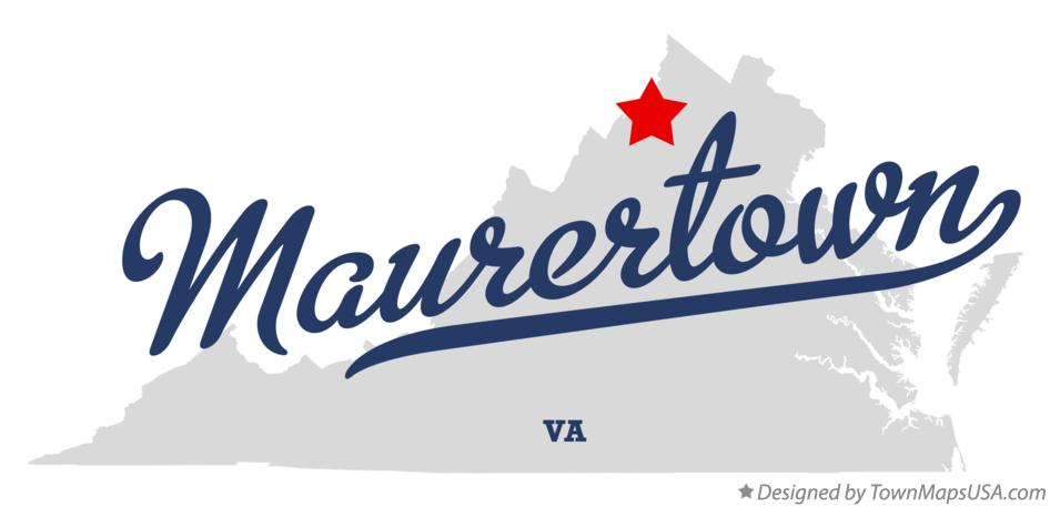 Map of Maurertown Virginia VA