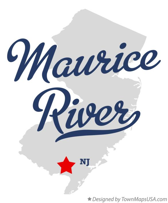 Map of Maurice River New Jersey NJ