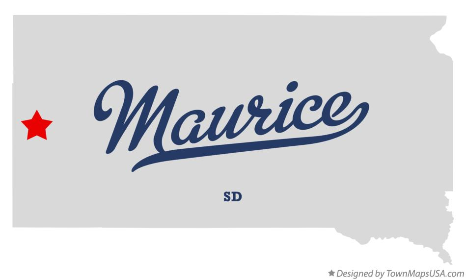 Map of Maurice South Dakota SD