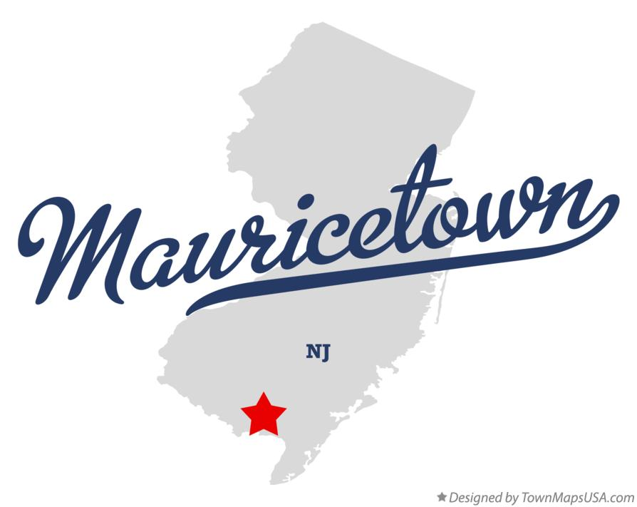 Map of Mauricetown New Jersey NJ