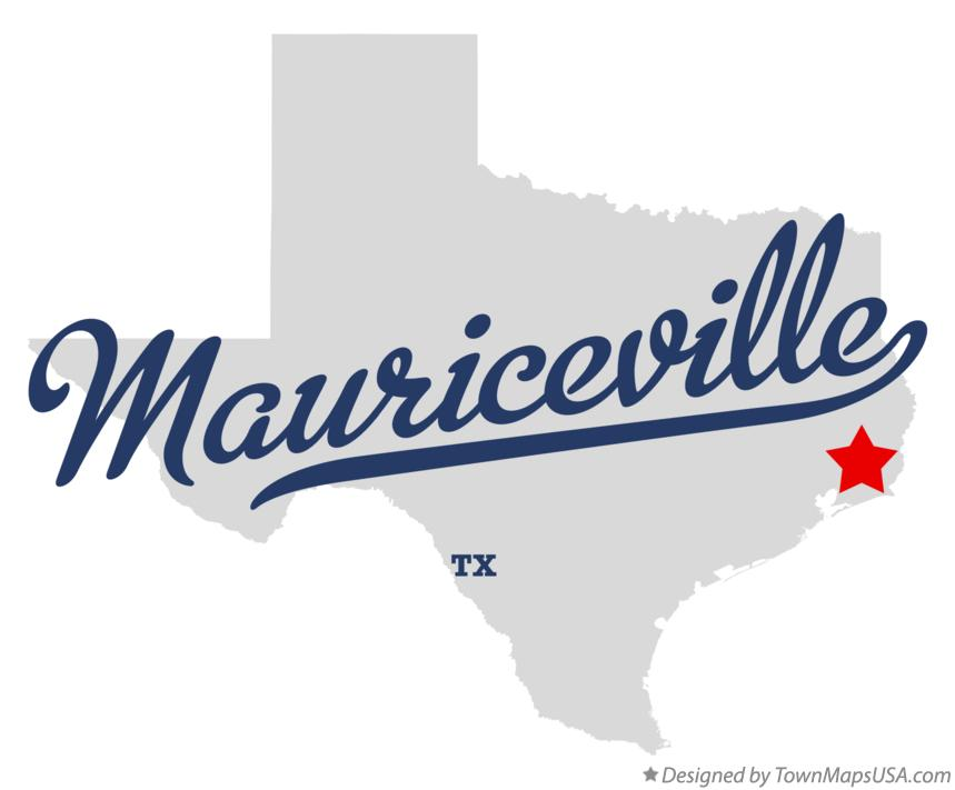 Map of Mauriceville Texas TX