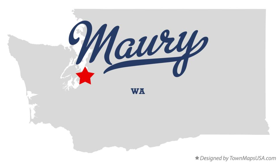 Map of Maury Washington WA