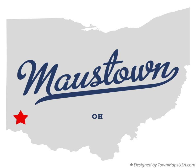 Map of Maustown Ohio OH