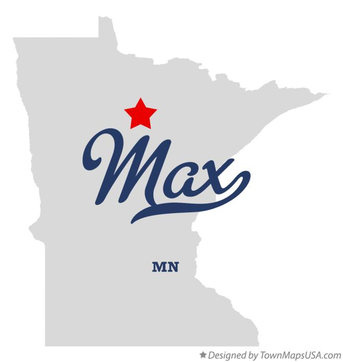 Map of Max Minnesota MN