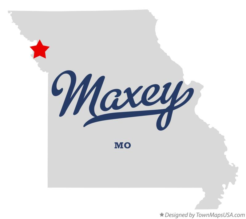 Map of Maxey Missouri MO