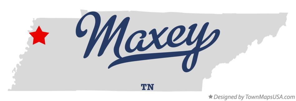 Map of Maxey Tennessee TN