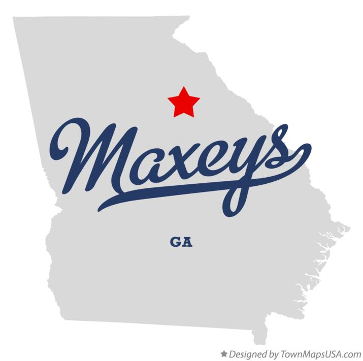 Map of Maxeys Georgia GA