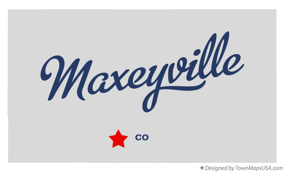 Map of Maxeyville Colorado CO