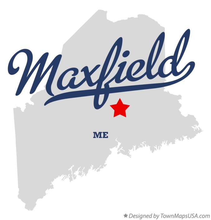 Map of Maxfield Maine ME