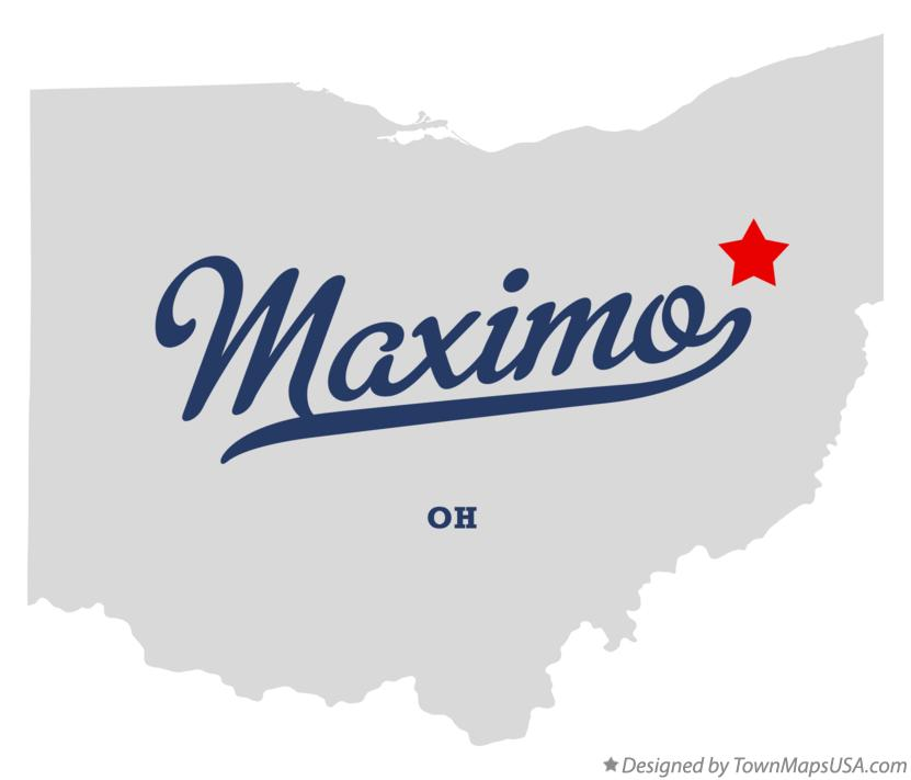 Map of Maximo Ohio OH