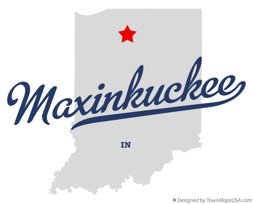 Map of Maxinkuckee Indiana IN